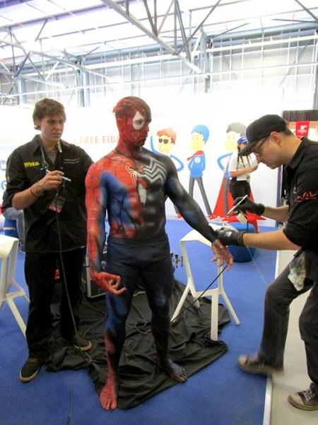 Comic Con Africa - Spiderman / Venom Body Paint