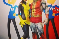 Comic Con Africa - Colossus and Shadowcat Body Paint