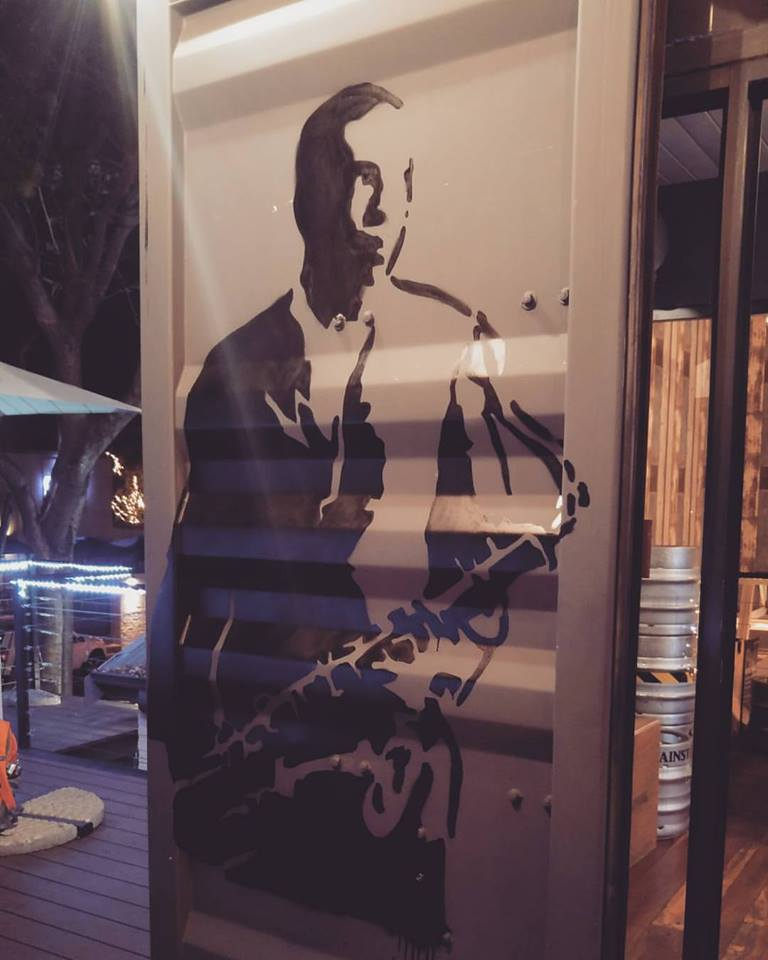 Coltrane Mural - Oze cafe