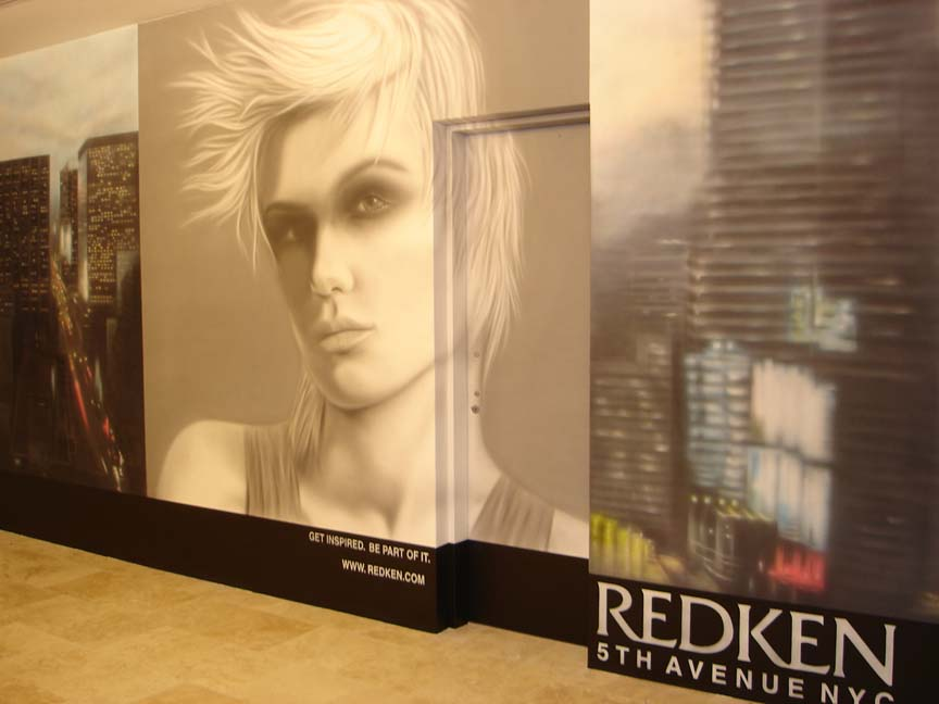 Airbrushed Mural - Day Spa