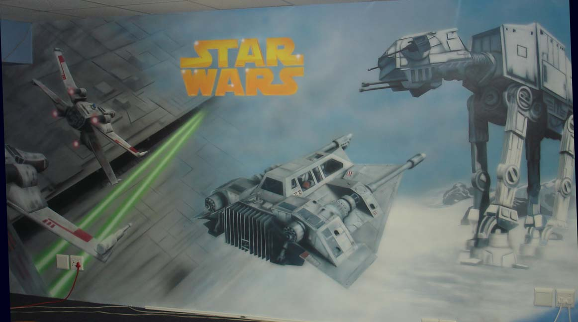 Airbrushed Mural - Star Wars