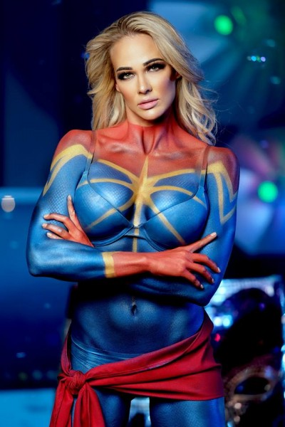 Captain Marvel Body Paint