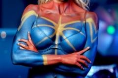 Captain Marvel Body Paint