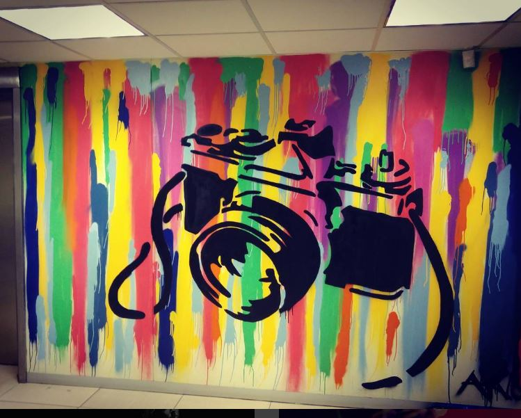 Vega graffiti wall - camera