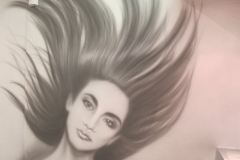Airbrushed Mural - Hair Salon