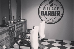Handpainted Mural - The Village Barbershop