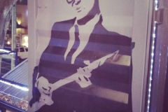 Buddy Holly Mural - Oze cafe