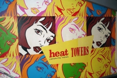 Stencilled Mural - Heat offices